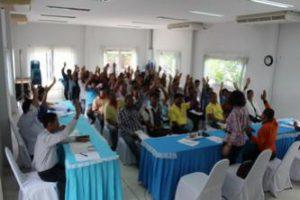 การประชาสัมพันธ์รณรงค์เชิญชวนให้ประชาชนไปออกเสียงประชามติ